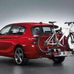 BMW Fahrradträger auf der Anhängerkupplung thumbnail