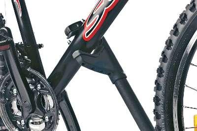 Die Fahrräder werden mit festen Halt gesichert