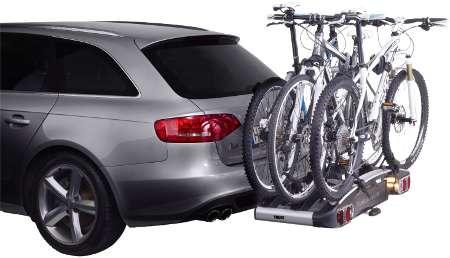 Mit 3 Fahrrädern beladen